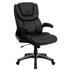 <strong>High-Back Leather Executive Office Chair with Arms</strong> by Flash Furniture