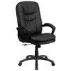 <strong>High-Back Leather Massaging Executive Office Chair with Arms</strong> by Flash Furniture