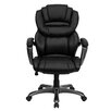 <strong>Flash Furniture</strong> Personalized High-Back Leather Executive Office Chair with Leather Padded Loop Arms