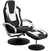 Flash Furniture Racing Style Vinyl Recliner and Ottoman