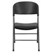 Flash Furniture Plastic Folding Chair with Charcoal Frame (Set of 6)