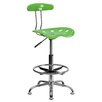 Flash Furniture Height Adjustable Drafting Office Chair with Chrome Base