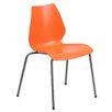 Flash Furniture Hercules Series Stackable Chair with Lumbar Support and Frame