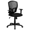 Flash Furniture Dennis Mid-Back Computer Chair in Black