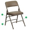 Flash Furniture Hercules Series Folding Chair (Set of 4)