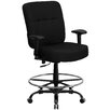Flash Furniture Hercules Series Drafting Stool with Arms and Extra-Wide Seat