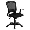 Flash Furniture Mid-Back Mesh Chair with Padded Seat