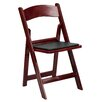 <strong>Resin Folding Chair with Vinyl Padded Seat (Set of 4)</strong> by Flash Furniture