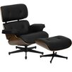 Flash Furniture Hercules Presideo Series Top Grain Lounge Chair and Ottoman Set