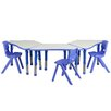 Flash Furniture Trapezoid Activity Table Configuration with 3 School Stack Chairs