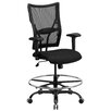 <strong>Hercules Series Mesh Drafting Stool with Arms</strong> by Flash Furniture