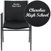 Flash Furniture Hercules Series Personalized Heavy Duty Vinyl Stackable Chair with Arms
