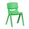 "Flash Furniture 13.25"" Plastic Classroom Stackable School Chair"