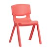 "<strong>Flash Furniture</strong> 13.25"" Plastic Classroom Stackable School Chair"