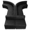 Flash Furniture Hercules Alon Series 8 Piece Leather Reception Configuration Set