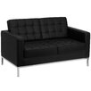 Flash Furniture Hercules Lacey Series Leather Love Seat with Encasing Frame