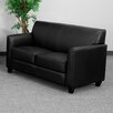 <strong>Hercules Diplomat Series Leather Love Seat</strong> by Flash Furniture