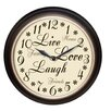 "Westclox 12"" Round ""Live Love Laugh"" Message Clock"