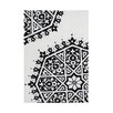 <strong>Alliyah Rugs</strong> Creamy White/Black Rug