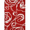 Alliyah Rugs New Delhi Ivory & Red Floral Area Rug