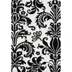 <strong>Sabrina OffWhite/Black Floral Rug</strong> by Alliyah Rugs