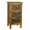 Antique Revival Rustic Valley 3 Drawer Chest