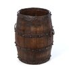 <strong>Vintage Studded Barrel with Iron Handles</strong> by Antique Revival