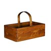 <strong>Antique Revival</strong> Square Fruit Bucket with Wooden Handle