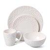 American Atelier Bianca Leaf Round 16 Piece Dinnerware Set