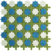 <strong>Aquarelle Random Sized Ceramic Wall Tile in Star Blue Mosaic</strong> by Interceramic