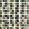 "Interceramic Shimmer Blends 1"" x 1"" Ceramic Matte Mosaic in Ocean"