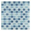 "Interceramic Shimmer Blends 1"" x 1"" Glossy Mosaic in Arctic"