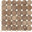 "Marazzi Campione Random Sized Octagon Mesh-Mounted 2"" x 2"" Porcelain Stoneware Glazed Mosaic in Andretti"