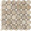 Marazzi Campione Random Sized Octagon Mesh-Mounted Mosaic in Sampras