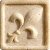 """<strong>Romancing the Stone 2"""" x 2"""" Compressed Stone Fleur de Lis Insert in...</strong> by Marazzi"""