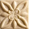 "<strong>Marazzi</strong> Romancing the Stone 2"" x 2"" Compressed Stone Floral Insert in Ivory"
