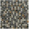 "Crystal Stone II 12"" x 12"" Glass Square Mosaic in Slate"