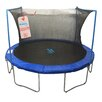 Upper Bounce 6' Round Trampoline Enclosure Safety Net Using 3 Arches