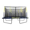 Upper Bounce Spacious 15' Rectangular Trampoline with Fiber Flex Enclosure