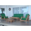Anderson Teak Brianna 5 Piece Deep Seating Group with Cushion