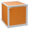 "Way Basics zBoard Eco Stackable Box 13.1"" Storage Cube with Door"