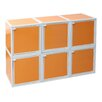 "Way Basics zBoard Eco Stackable and Modular 6 Box 26.1"" Storage Cubes with Door (optional)"