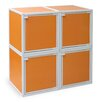 Way Basics 4 Cube Modular Storage Box