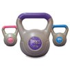 Tone Fitness Cement Filled 3 Piece Kettlebell Set