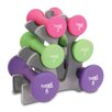 Tone Fitness 20 lbs Hourglass Dumbbell Set