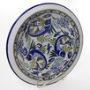 "Le Souk Ceramique Aqua Fish Design 14"" Serving Bowl"