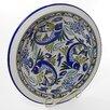 <strong>Aqua Fish Design Medium Serving Bowl</strong> by Le Souk Ceramique