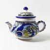 <strong>Le Souk Ceramique</strong> Aqua Fish Design 0.75-qt. Teapot