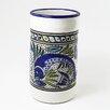 Le Souk Ceramique Aqua Fish Design Utensil / Wine Holder
