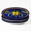 Le Souk Ceramique Citronique Design Oval Platter (Set of 4)